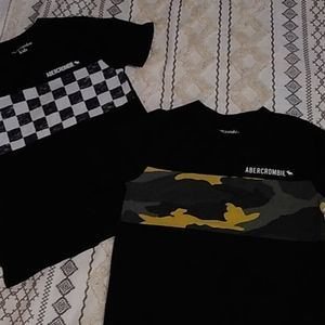 (2) NWOT boys Abercrombie kids tshirts